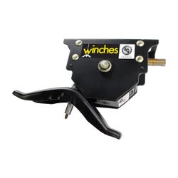 Spare Tire Winch with Offset Cable
