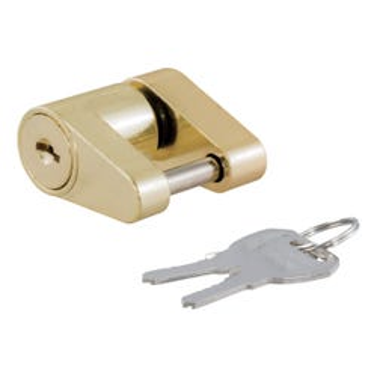 "Coupler Lock (1/4"" Pin, 3/4"" Latch Span, Padlock, Brass-Plated)"