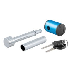 """1/2"""" Hitch Lock with 5/8"""" Adapter (1-1/4"""" or 2"""" Receiver, Right-Angle, Chrome)"""