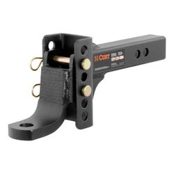 """Adjustable Channel Mount with 1"""" Ball Hole (2"""" Shank, 6,000 lbs., 6-3/4"""" Drop)"""