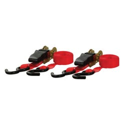 10' Red Cargo Straps with S-Hooks (500 lbs, 2-Pack)