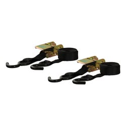 10' Black Cargo Straps with S-Hooks (500 lbs, 2-Pack)