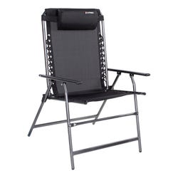 All-Weather Mesh Bungee XL Deck Chair - Black