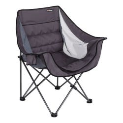 Double-Wide Padded Chair - Dark Grey