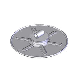 Landing Gear Foot Pad Weldment