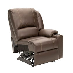 Left Hand Recliner  - Seismic Series (Majestic Chocolate)