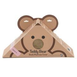 "Teddy Bear Bunk Mat Cover - 28"" x 74"" x 4"" (Tan)"