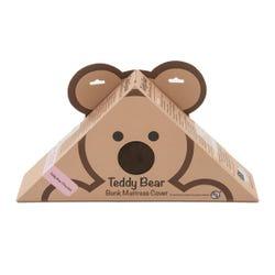 "Teddy Bear Bunk Mat Cover - 28"" x 74"" x 4"" (Chocolate)"