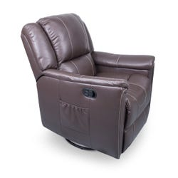 Swivel Glider Recliner with Heat - Majestic Chocolate