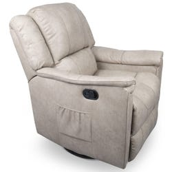 Swivel Glider Recliner with Heat - Grantland Doeskin