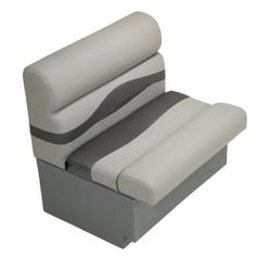 """30"""" Pontoon Bench Seat with Storage - Charcoal"""