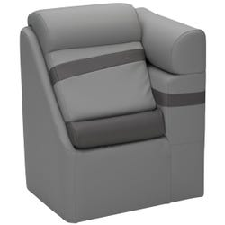 """20"""" Right Arm Pontoon Chaise with Privacy Station - Charcoal"""