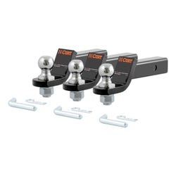 """Loaded Ball Mounts with 1-7/8"""" Balls (2"""" Shank, 3,500 lbs., 2"""" Drop, 3-Pack)"""