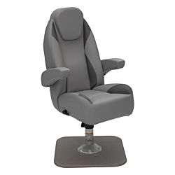 High Back Recliner Pontoon Helm Seat - Charcoal