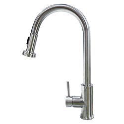 Pull Down Single Hole Bell Faucet - Stainless Steel