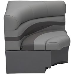 "32"" x 32"" Square Corner Pontoon Seat - Charcoal"