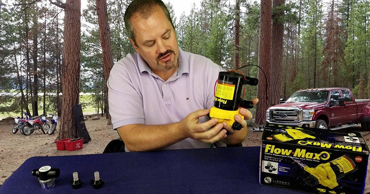 Jim Tanner reviewing the Flow Max Water Pump