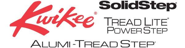 Kwikee Step, Solid Step, Tread Lite Power Step, Alumi-Tread Step logos