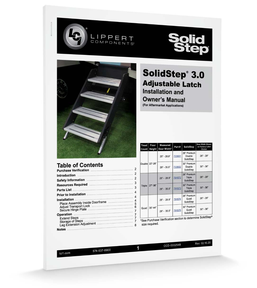 Download Solid Step Installation Manual