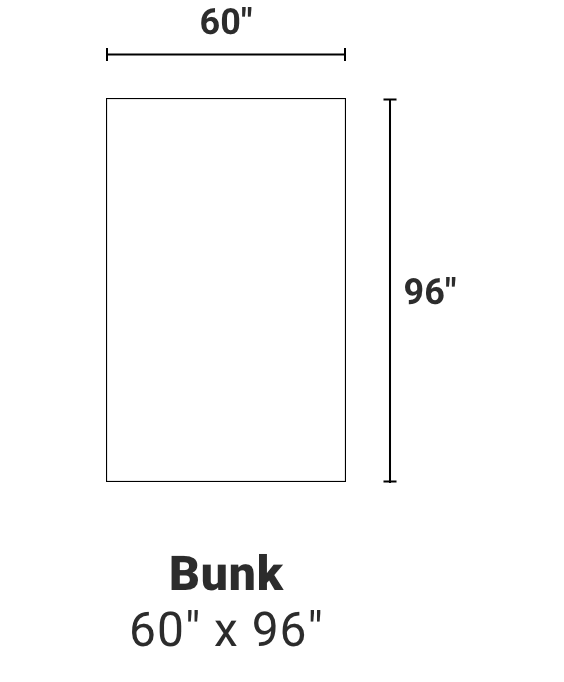 Bunk - 60 inches by 96 inches